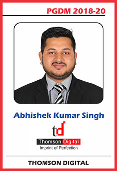 abs noida pgdm 18-20 batch placement abhishek kumar singh