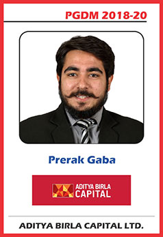 abs noida pgdm 18-20 batch placement prerak gaba