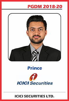 abs noida pgdm 18-20 batch placement prince