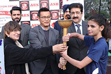 bhaichung bhutia at asian business school abs noida