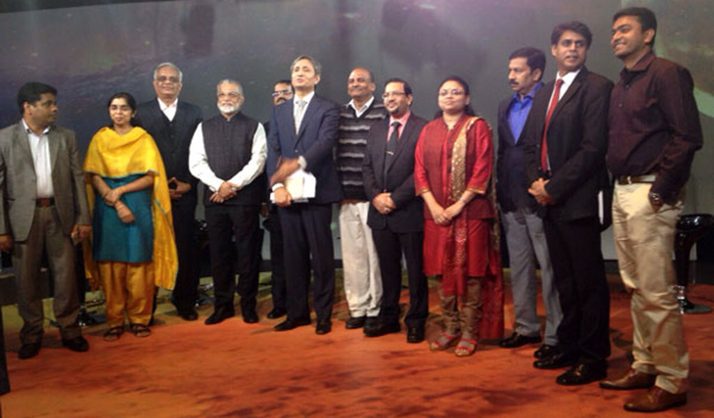 ABS Students attended a live talk show of NDTV
