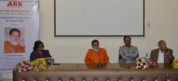 The Guest Lecture by Swami Bodhananda Ji, delivered on 7th  April 2015