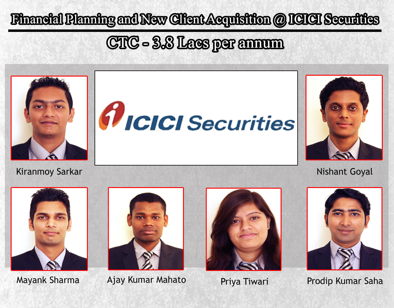 Financial Planning and New Client Acquisition @ ICICI Securities