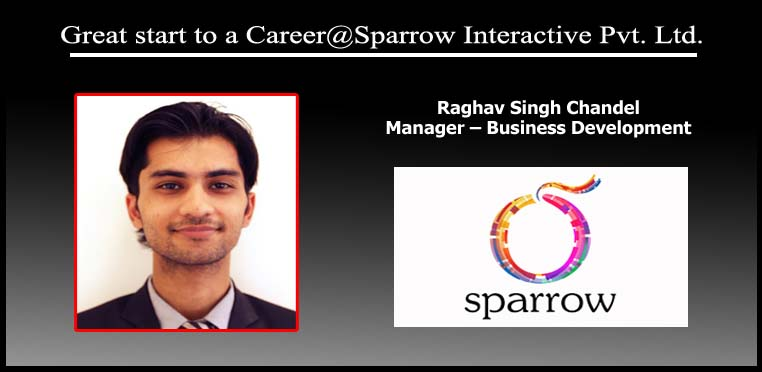 Great start to a Career@Sparrow Interactive Pvt. Ltd.