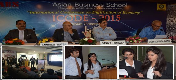 """Presentation of Research Papers by the students of Asian Business School in International Conference """"I CODE 2015"""" – """"Digitization of Economy"""""""
