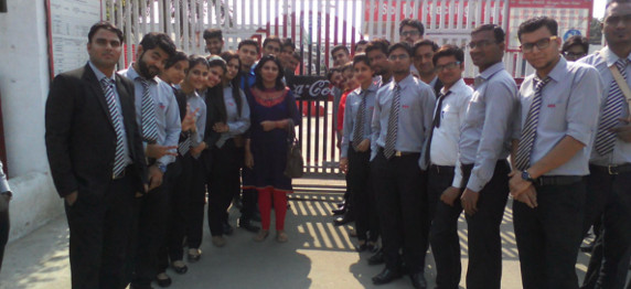 ASIAN BUSINESS SCHOOL ORGANISED AN INDUSTRIAL VISIT TO COCA COLA BEVERAGES PVT. LTD, DASNA, GHAZIABAD