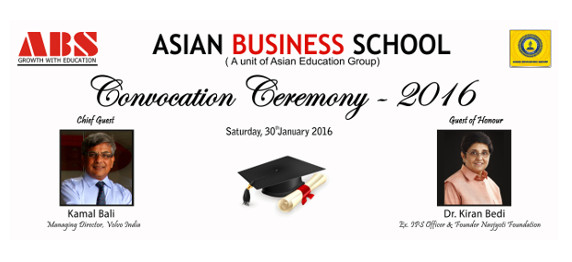 Asian Business School celebrates its Annual Convocation Ceremony for PGDM 2013-15 batch