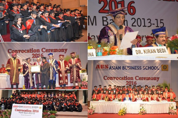 ANNUAL CONVOCATION CEREMONY SOLEMNISED BY ASIAN BUSINESS SCHOOL