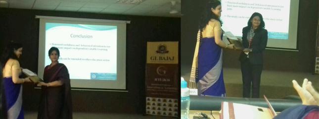Paper Presentations @ International Conference