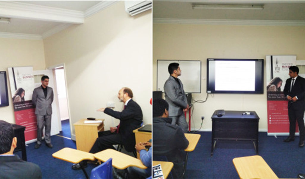 Project Presentations @ Oxford Business College