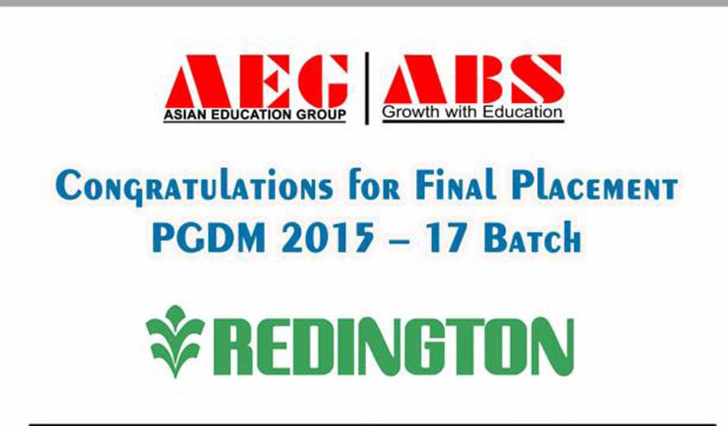 Asianites Placed @ Redington (India) Ltd
