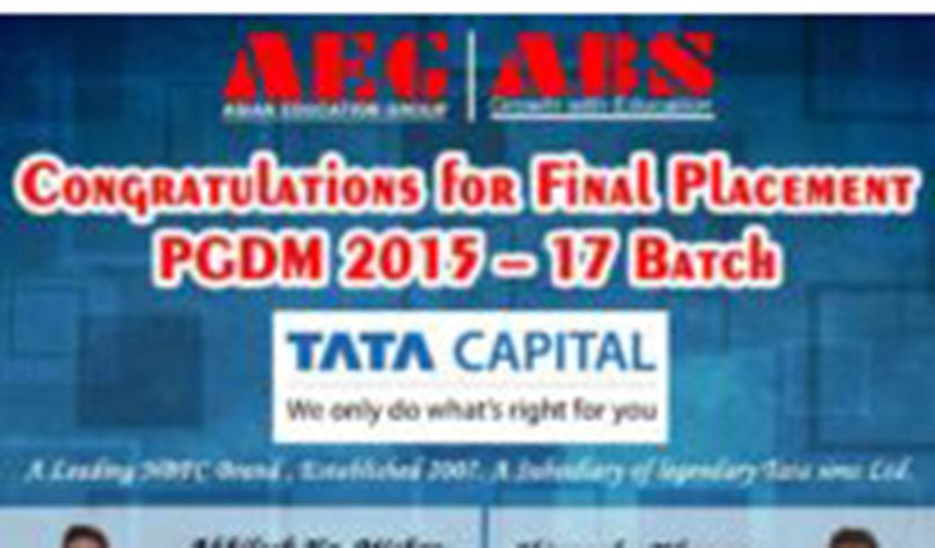 Asianites Placed @ TATA Capital Limited