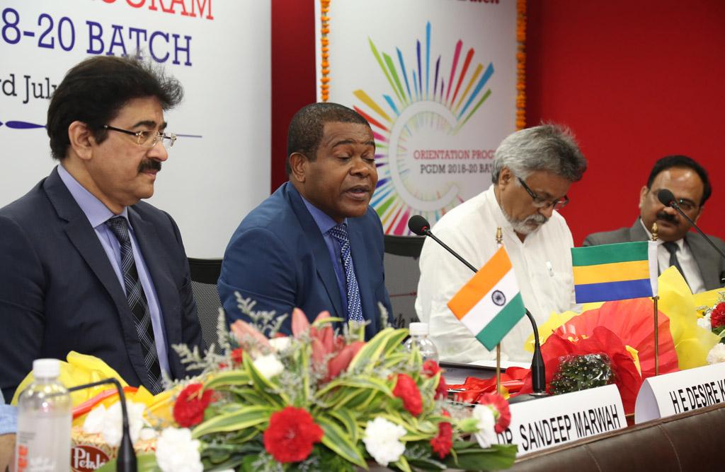Message of H. E. KOUMBA Désiré, Ambassador, Republic of Gabon in India – Orientation Programme PGDM 2018-20