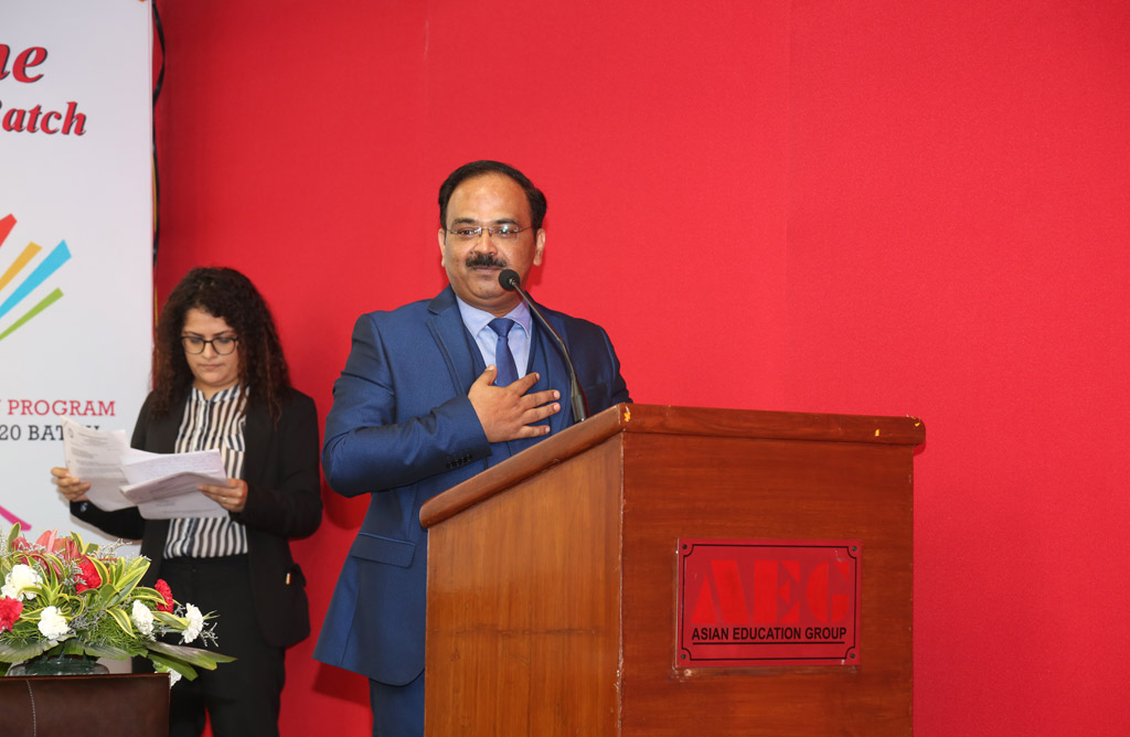 Message from the Director, Asian Education Group – Orientation Program of PGDM 2018-20