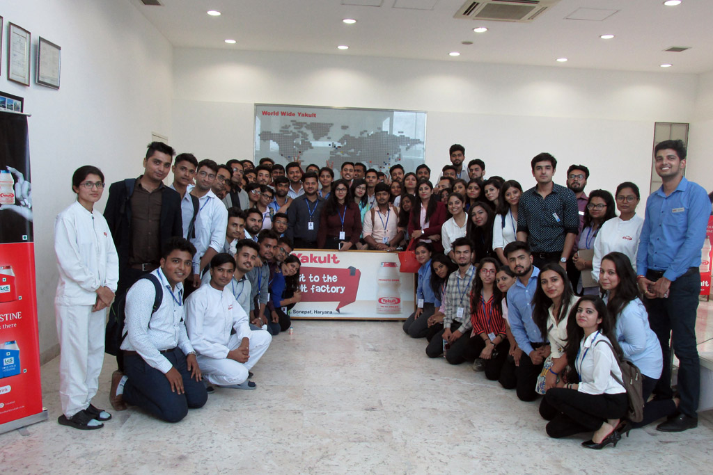 ABS PGDM 1st Semester Industrial Visit to Yakult & Danone Pvt Ltd.