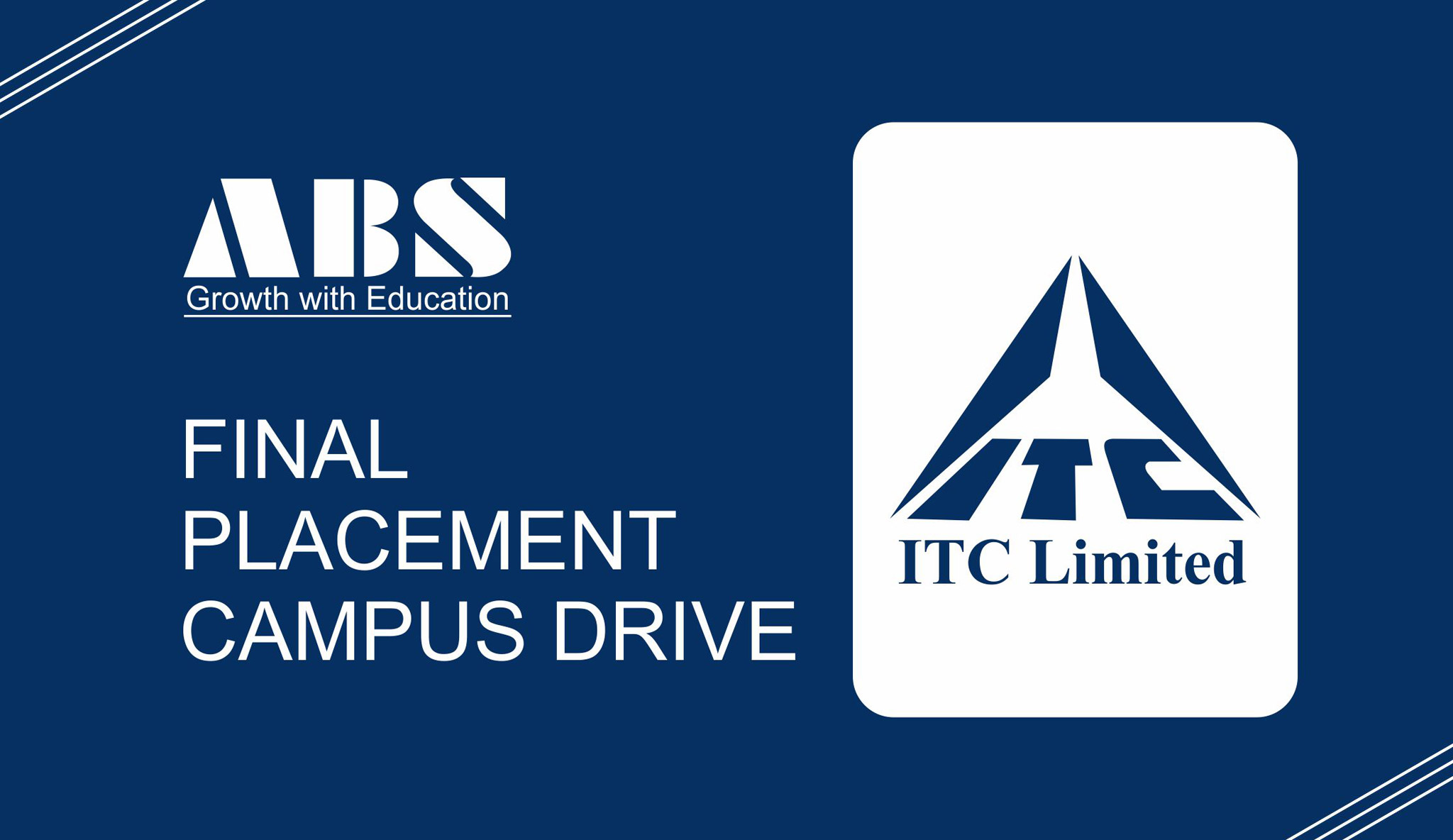 Final Placement-Campus Drive – ITC Limited
