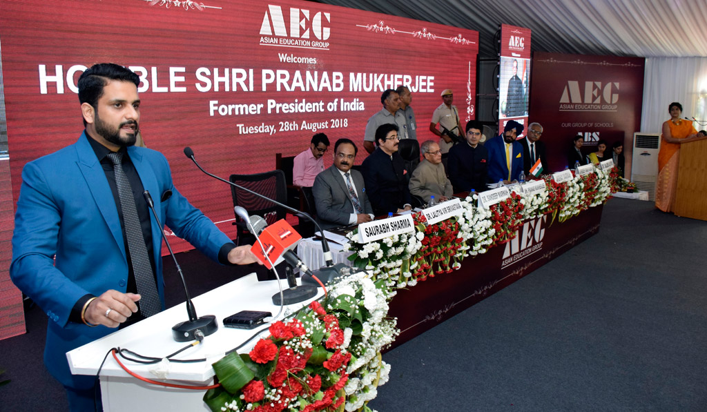 Shri Pranab Mukherjee at AEG – Mr. Saurabh Sharma, Director-AEG's Concluding Address