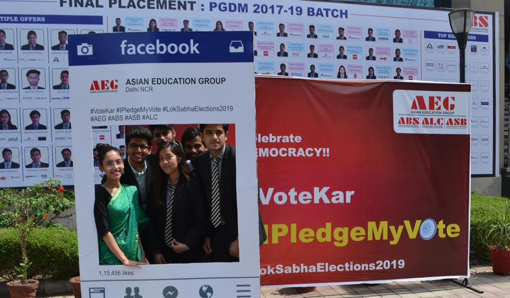Students of Asian Education Group participate in #IPledgeMyVote for a better India campaign!