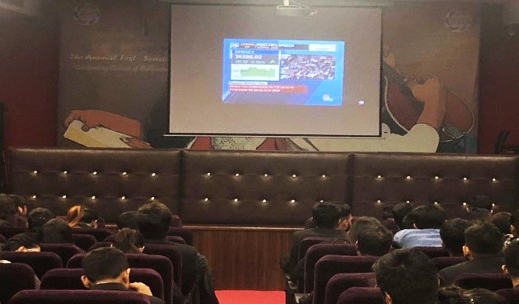 ABS PGDM students make the most of the LIVE SCREENING OF INTERIM BUDGET 2019