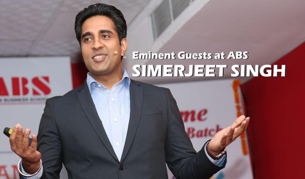 Distinguished Speakers at ABS – International Motivational Speaker, Simerjeet Singh illumines ABS PGDM students