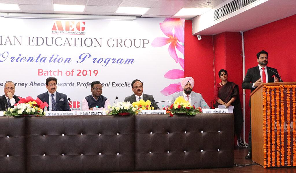 ABS PGDM Orientation 2019 – Mr. Saurabh Sharma, Director-Asian Education Group (AEG)