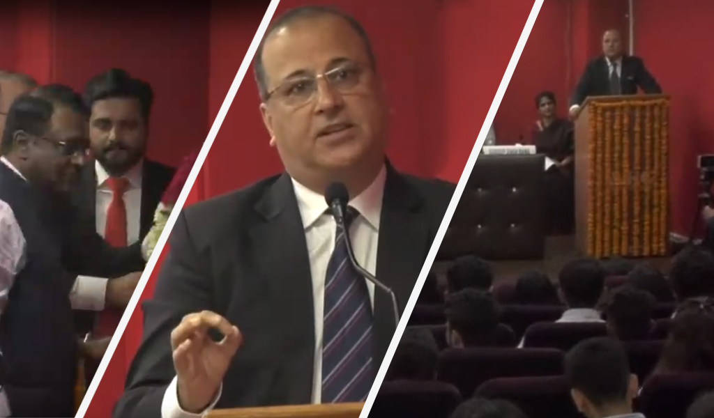 Guest of Honor at ABS PGDM Orientation Program 2019 – Mr. Sanjay Kaul advised students to stick on to values & morals!