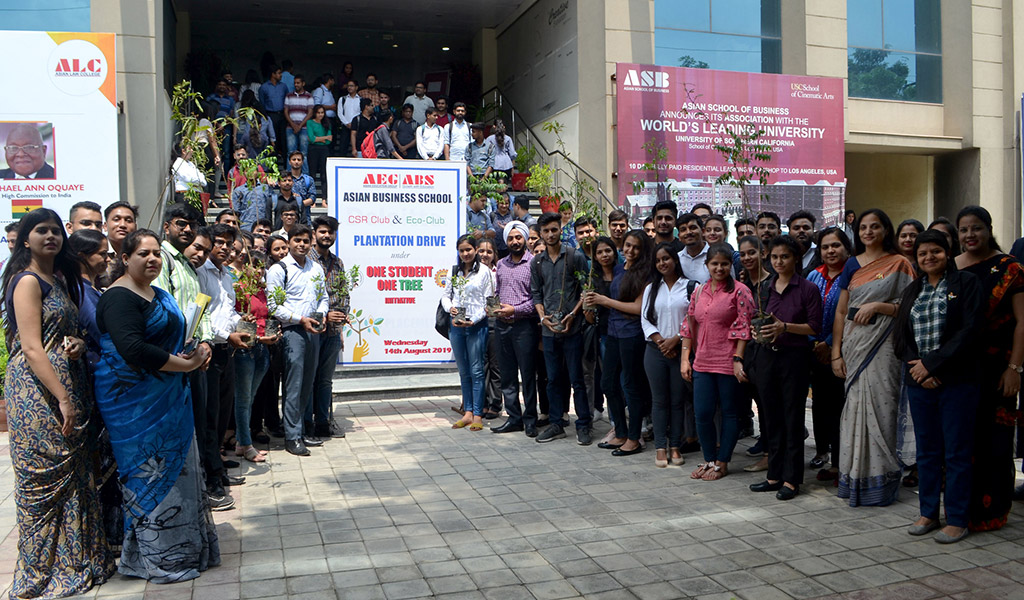 """Asian Business School Participates in Government's """"One Student, One Tree"""" Campaign"""