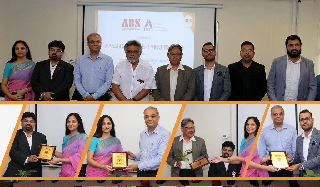 """MDP on """"Consulting in Modern Digital Times"""" at Asian Business School concludes on a high note of knowledge!"""