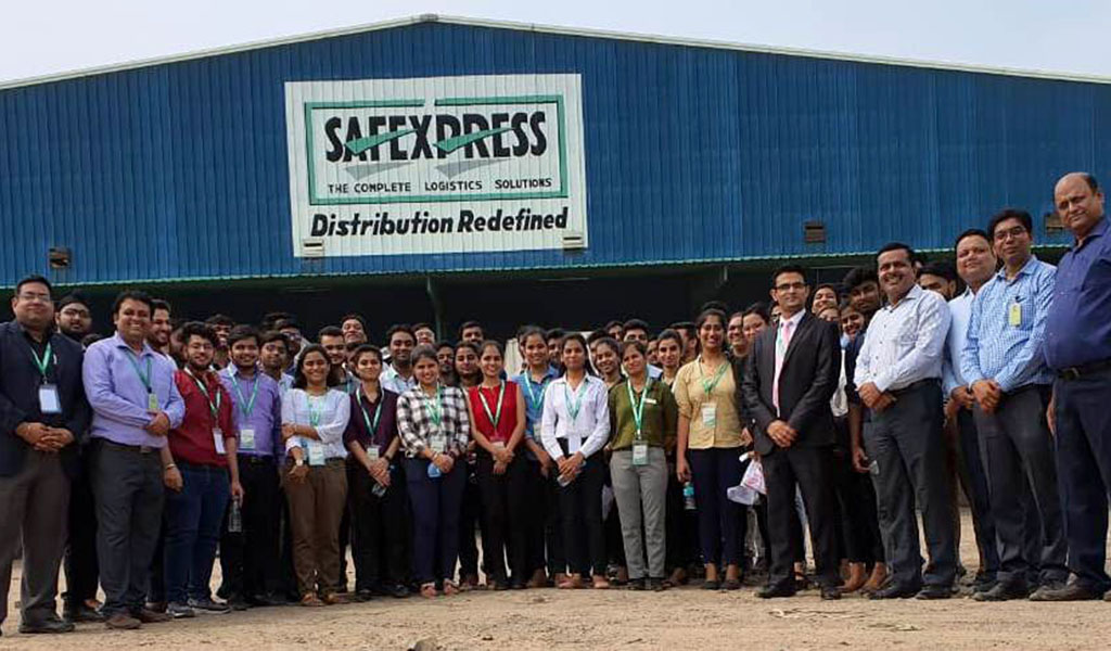 ABS PGDM-1st Year Students on Industrial Visit To Safe Express Logistics Park, Greater Noida