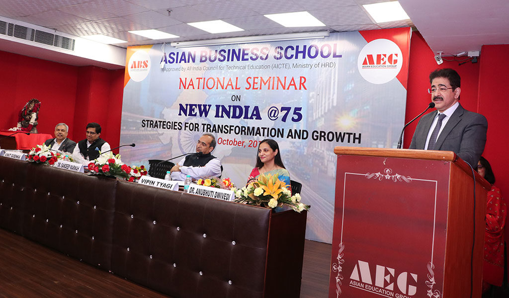 """National Seminar on """"New India@75: Strategies for Transformation & Growth"""" at ABS Concludes on a High-Pitch of Knowledge!"""