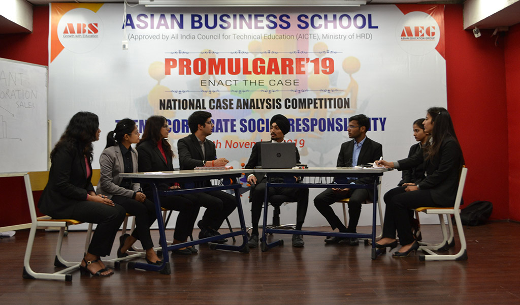ABS organizes a National Case Analysis Competition, PROMULGARE 2019 for Management Students