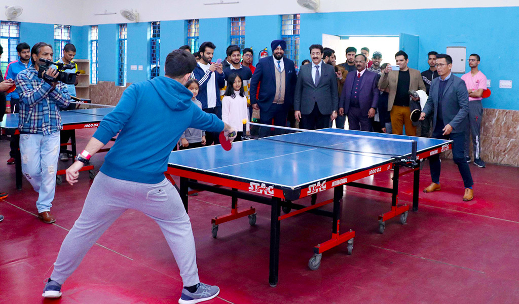 Game of Table Tennis at AEG's 8th Annual Inter-College Sports Meet, ATHLEEMA 2020 witnesses some top-class performances!
