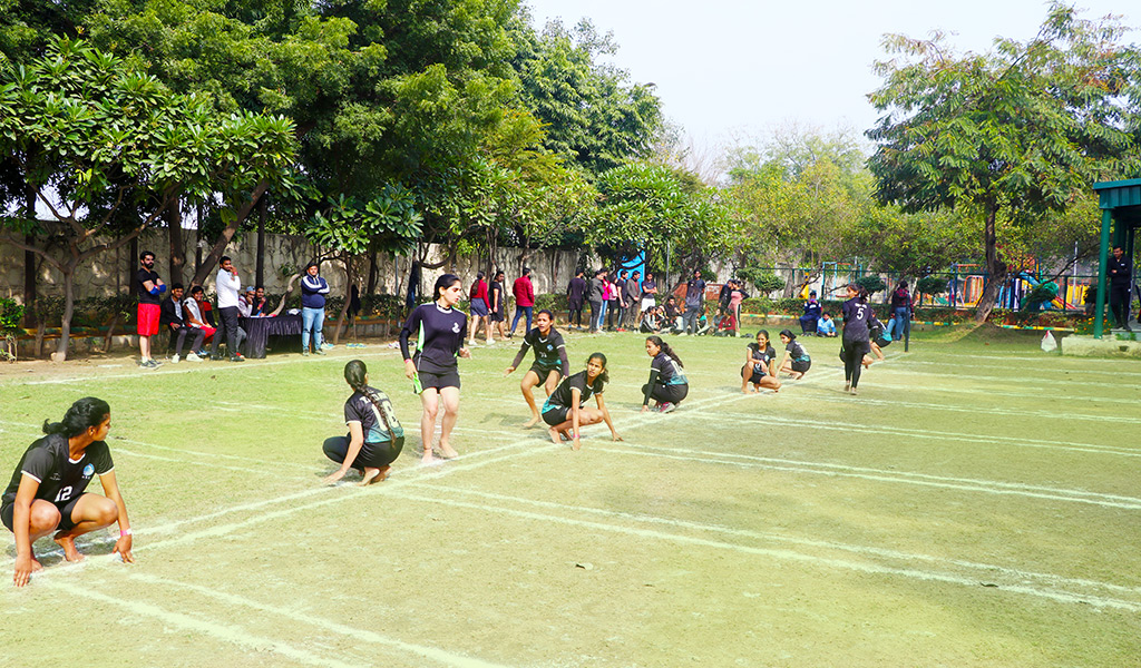 Ancient game, Kho Kho generates a lot of interest at AEG's 8th Annual Inter-College Sports Festival, ATHLEEMA 2020!