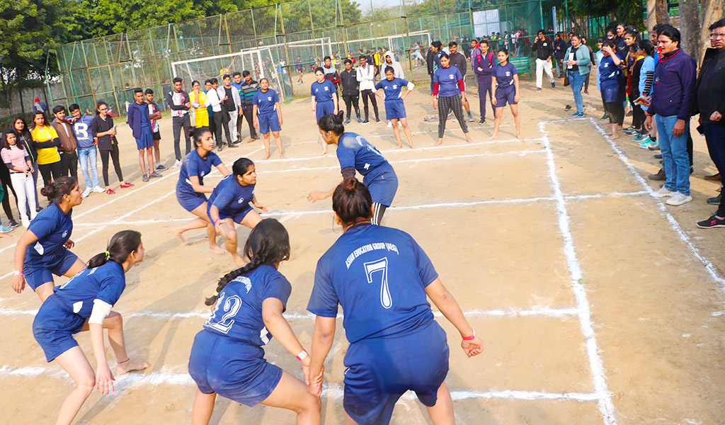 Game of Kabaddi adds a punch of thrill at AEG's 8th Annual Inter-College Sports Meet, ATHLEEMA 2020!