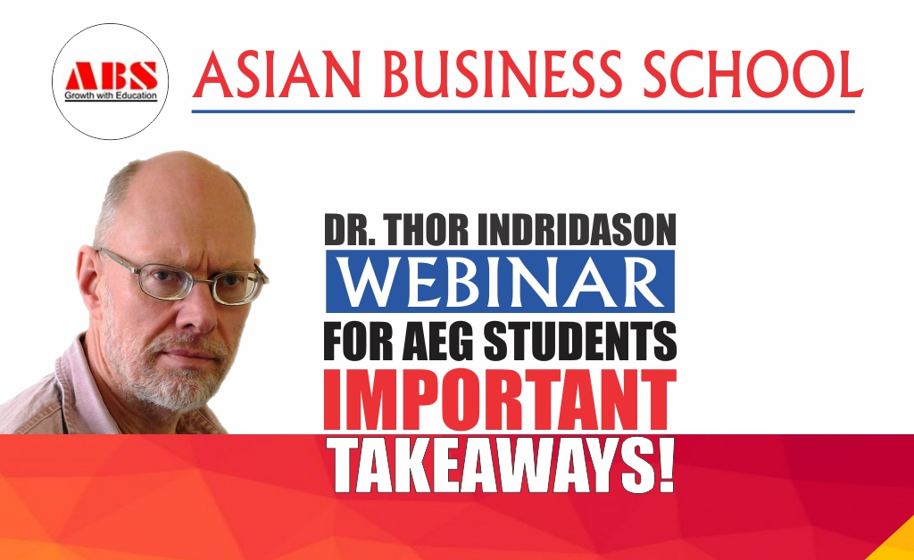 ABS Live WEBINAR on 'Managing Careers' by Dr. Thor Indridason unfolds as a highly enlightening session!