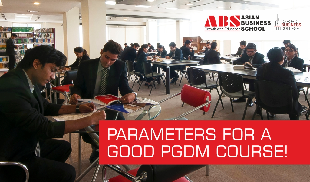 What are the core parameters for a good PGDM course?