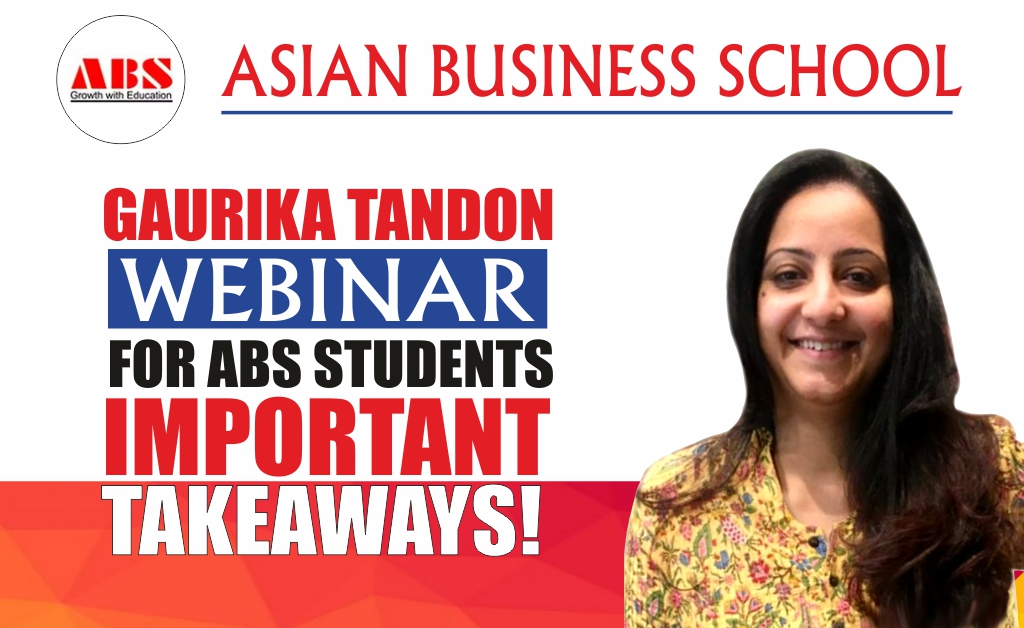 "GAURIKA TANDON, HR Leader-Learning, Bennett Coleman and Co. Ltd. (Times Group) presents a brilliantly informative live webinar session on ""RESKILL & UPSKILL IN THE NEW NORMAL"" at ABS!"