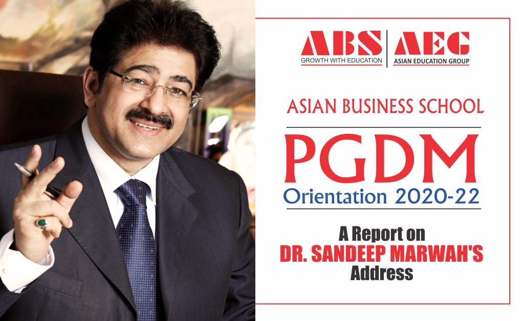 ABS PGDM Orientation for 2020-22 Batch: Dr. Sandeep Marwah imparts an inspiring message for the students!