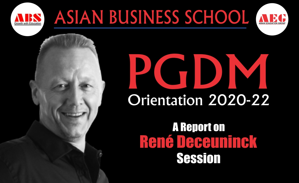 Mr. René Deceuninck, CEO & Founder at IPB Ltd & The Oxford Institute of Body Language, Oxford, UK presents an amazing, invaluable Live Interactive WEBINAR on 'Importance of Body Language in Career Growth' at ABS PGDM Orientation Program 2020!