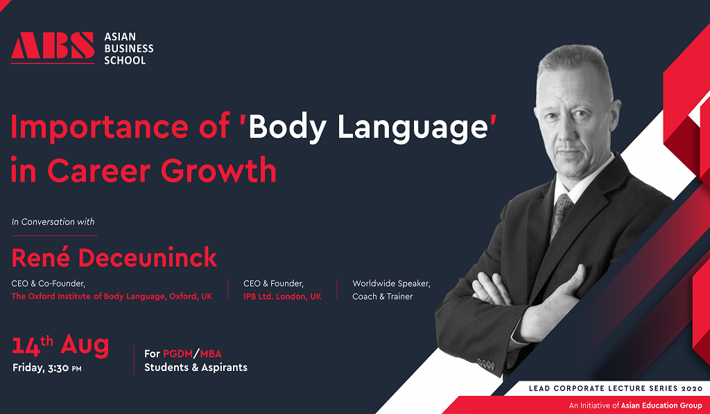ABS Orientation PGDM 2020-22 – An Interactive WEBINAR on 'Importance of Body Language in Career Growth' with René Deceuninck