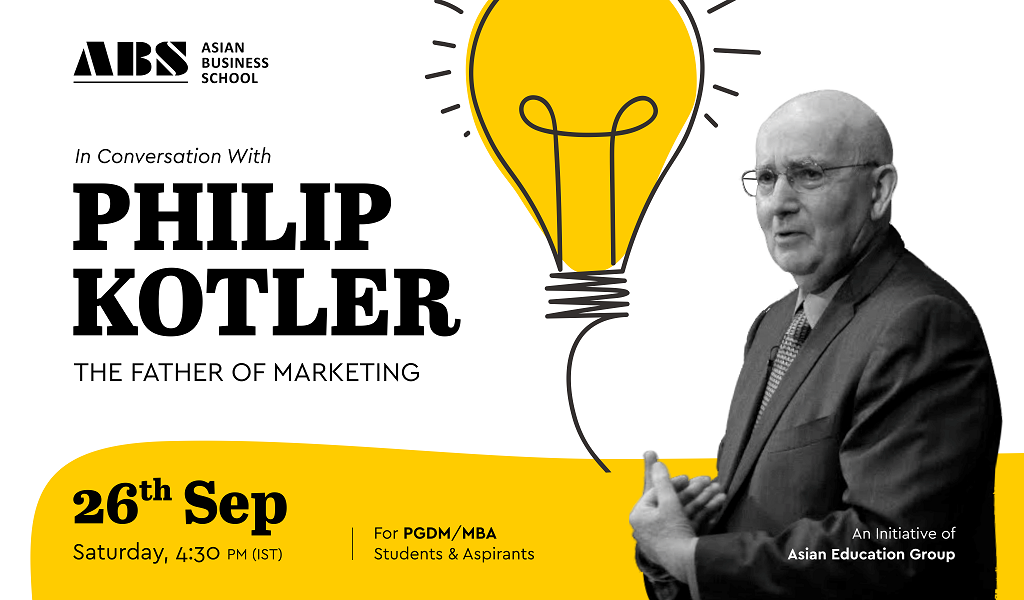 In Conversation with the Father of Modern Marketing Philip Kotler – An Interactive Session for PGDM & MBA Students