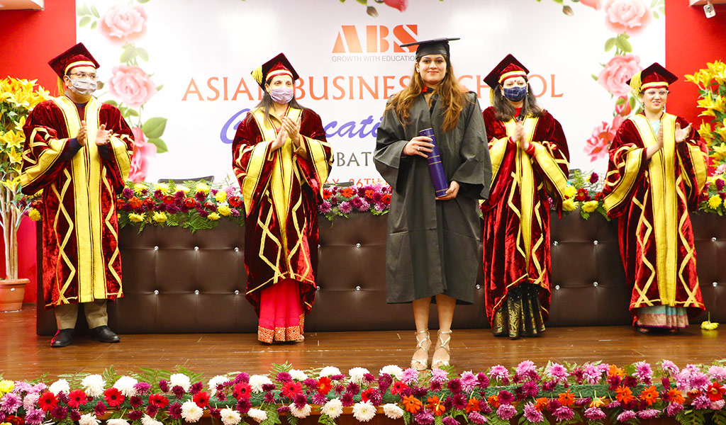 AEG's Asian Business School holds its 7th Annual Convocation Ceremony virtually, but with all solemnity!