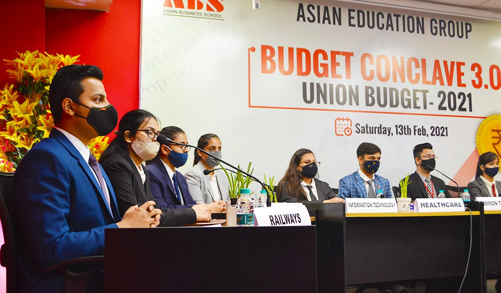 """ABS's Finance Club, BULLS n BEARS organizes a knowledge-packed educative activity – """"BUDGET CONCLAVE 3.0"""" – for its PGDM students"""