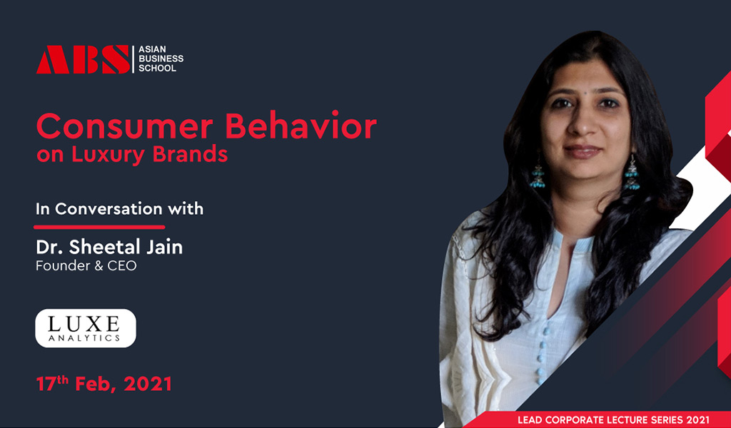"""Dr. SHEETAL JAIN – """"Luxury Industry Expert"""" – offers a highly enriching live session for ABS PGDM students!"""