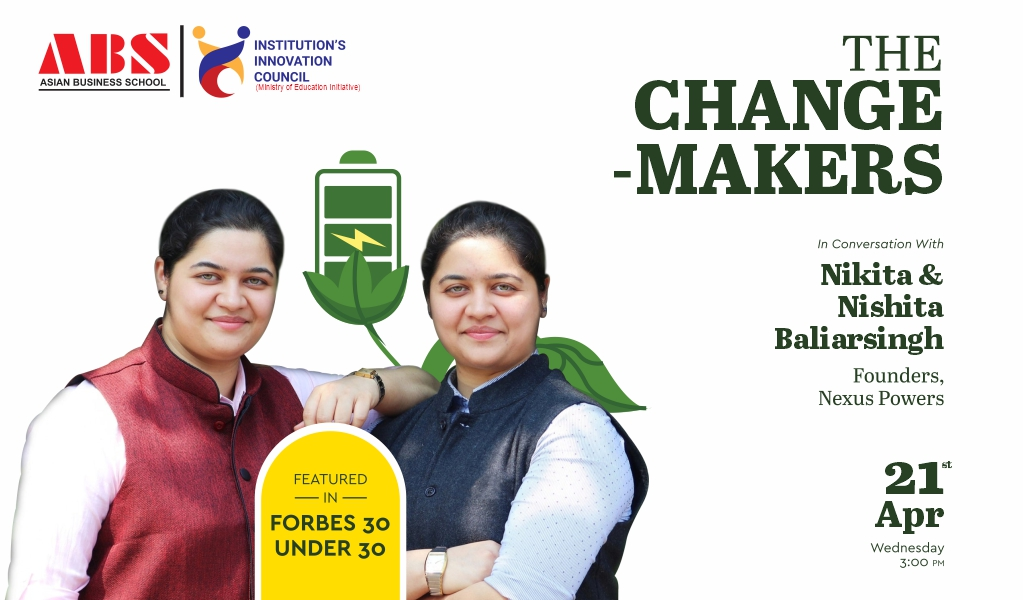Webinar session with Ms. Nikita & Nishita Baliarsingh, Founders-Nexus Power for ABS PGDM students!