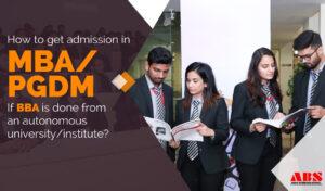 MBA/PGDM admission