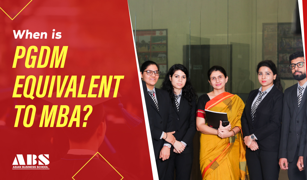 When is PGDM equivalent to MBA?