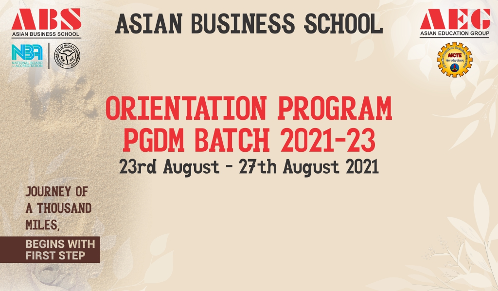 AEG's Asian Business School inaugurates a 5-day PGDM Orientation 2021 Program with big fanfare!